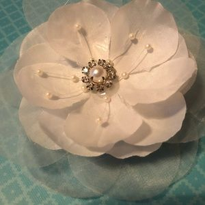 White Flower hair piece.